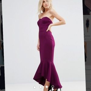ASOS Petite Bandeau Peplum Dress