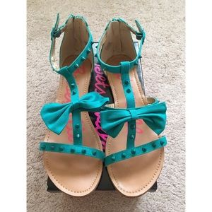 Betseyville Turquoise Sandals