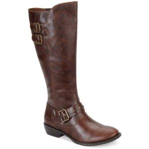 BORN knee high brown riding boots // 10