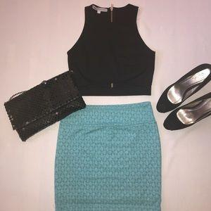 Dresses & Skirts - Teal blue mini skirt