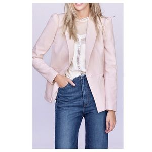 Rebecca Taylor Puffed Sleeve Blazer Rose bud Pink