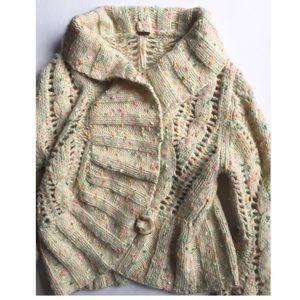 Free People cropped wool blend cardigan⚡️