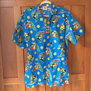 Vintage 90s Mickey Mouse camp shirt