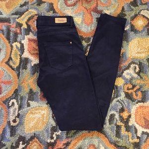 NWOT Zara Navy Blue Skinny Leg Denim Jeans Pants 2