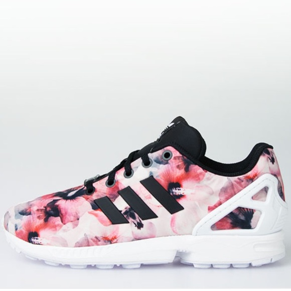 cfbff3460fd71 adidas Shoes - Adidas Zx Flux Pink Flowers 🌸✨