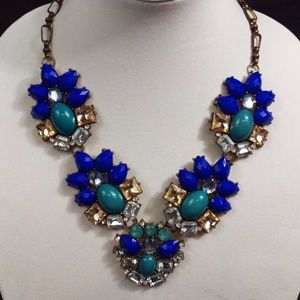 Vintage Blue Stone Necklace Lobster Clasp Fashion