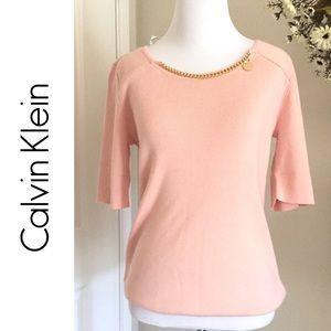 Calvin Klein Blush Sweater Top