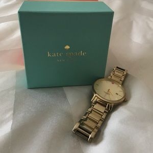 "Kate Spade ""Gramercy"" Gold Watch with box"