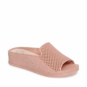 Jeffrey Campbell Fling pink jelly wedge sandal