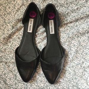 Steve Madden black leather d'orsay flats