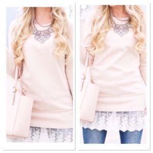 Apricot Tunic/Dress with Lace