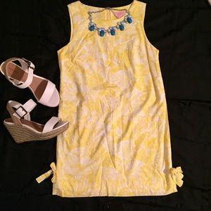 Lilly Pulitzer Petite Yellow & White Shift Dress