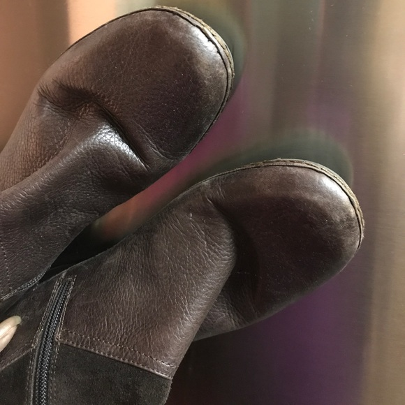 Naturalizer Shoes - Chocolate Brown Leather Knee Boots