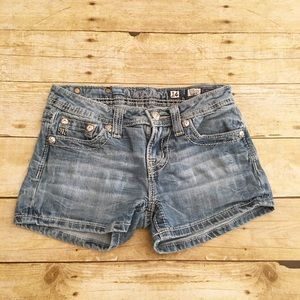 Girls size 14 Miss Me jean shorts