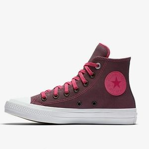 NWT Converse Chuck II 2 Pink Leather High Top