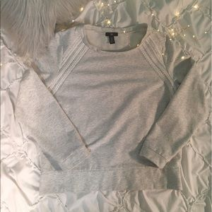 Gray embroidered sweater from GAP