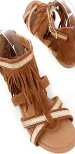 Other - Sparkly Fringe Open Toe Sandals