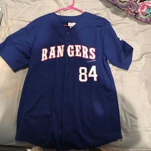 Tops - texas rangers jersey!!!