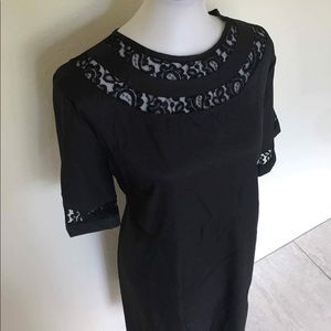 *PLUS SIZE* Lace Black Dress Modest 2XL NEW