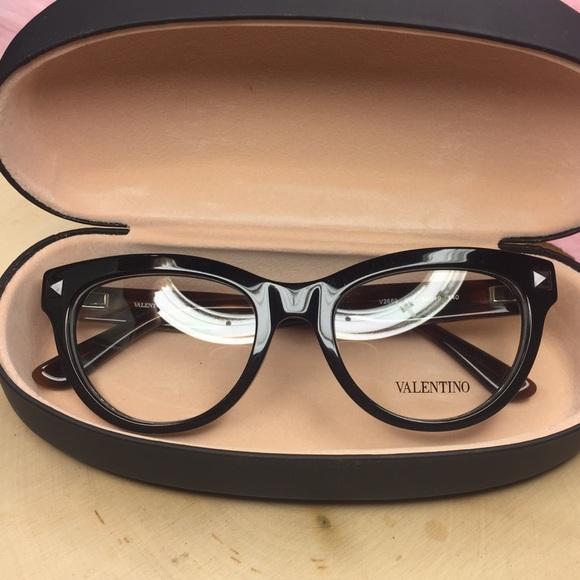 41e0bcecf01 Valentino two tone studded eyeglass frames V2689