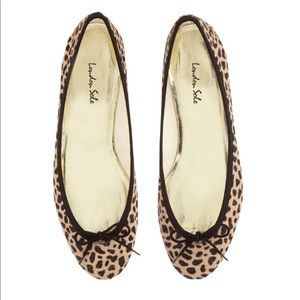 London Sole Pony Hair Flats in Gold