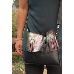 Oversized Mermaid Fringe Cross Body