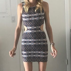 Geometric cut out Dress