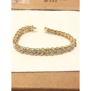 Jewelry - PAJ 925 silver bracelet cz gold plated