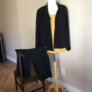 Jackets & Blazers - Women's Pinstripe Pants and Coat