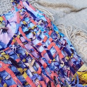 Kirra Dresses - Colorful Floral Cage Back Dress