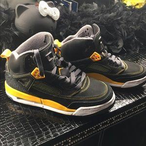 Jordan Shoes   Jordan Spizike Black And