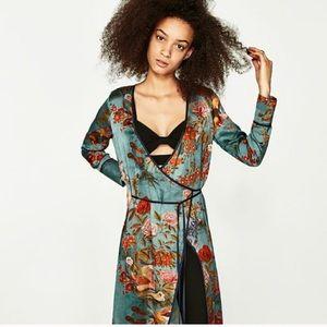 Zara Oriented printed kimono dress