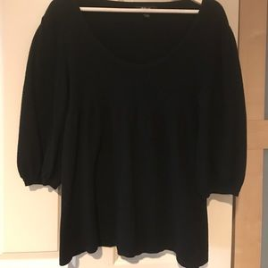 Style & Co babydoll sweater in black