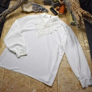 Tops - Vintage Victorian style blouse with beadwork