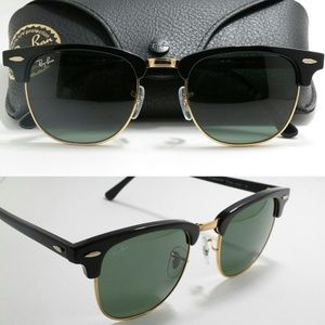 New RB3016 Clubmaster black gold Ray Ban 51mm