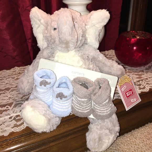 The Softest, Cuddliest Elephant + Elephant Socks