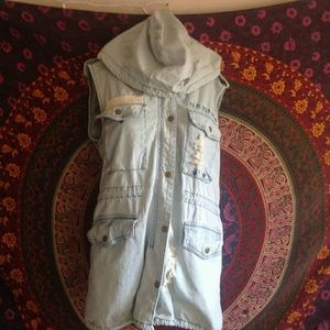 F21 Denim Oversized Vest