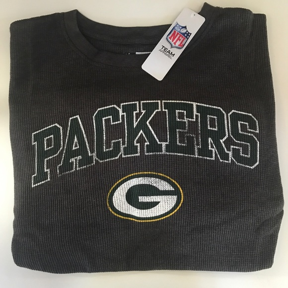 brand new f28ce 99e4a Green Bay Packers Big & Tall Thermal SL Tee Boutique