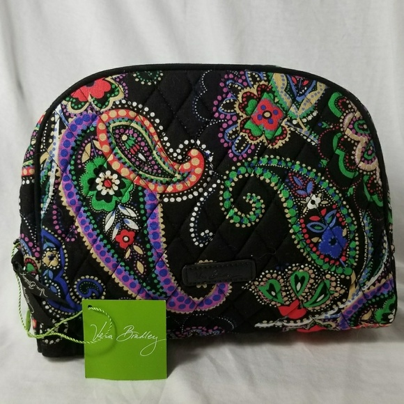 VERA BRADLEY  nwt  Retired Kiev Paisley MakeUp Bag 372f77554c511