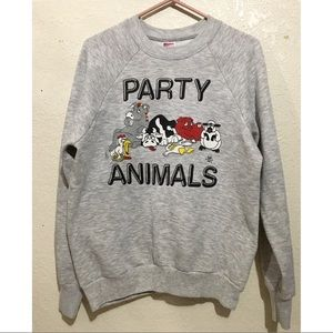 vtg 80s party sweater