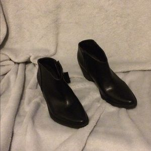 New Forever 21 Black Vegan/Faux Leather  Booties