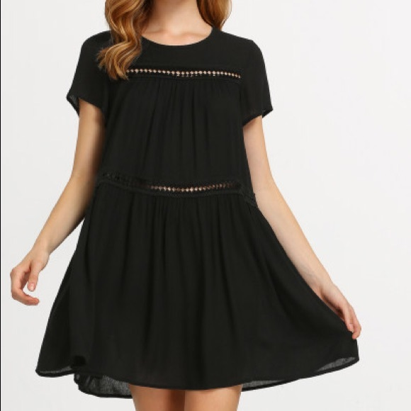 Dresses Black Cut Or Short Sleeve Flowy Dress Poshmark