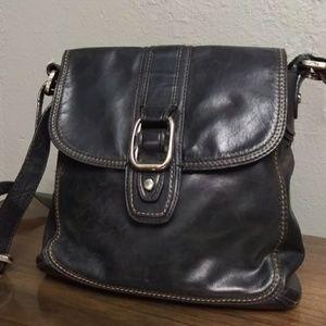 Fossil Leather Crossbody Messenger Bag