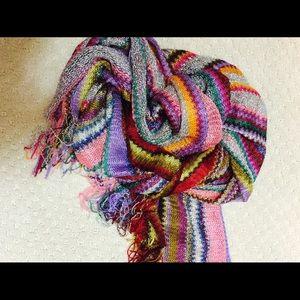 MISSONI Multi-color zig-zag long scarf