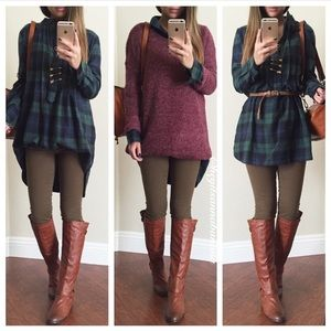 Dresses & Skirts - Plaid dress shirt
