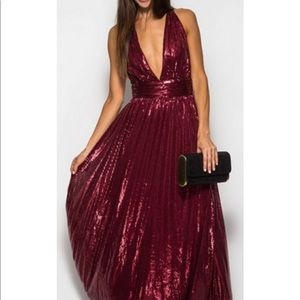 Dresses & Skirts - Cross Back Sequins Evening Gown
