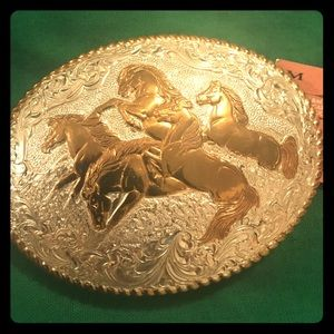 ⚡️LAST CALL⚡️NWT VTG STERLING PLATED BELT BUCKLE