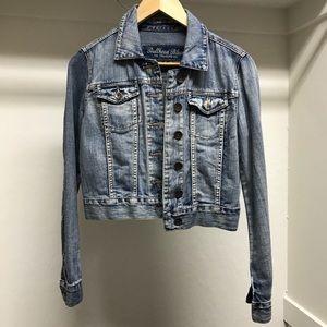 Medium wash jean jacket