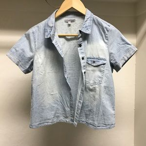 Tops - Short sleeve chambray shirt