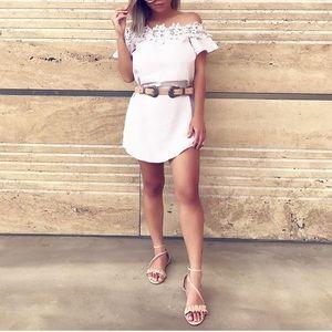 Crochet lilac OTS dress
